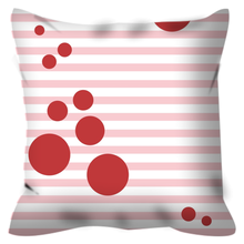 Pillow with Pink Stripes and Red Spots