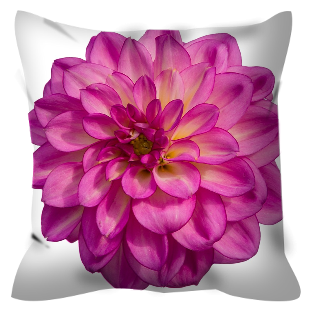 Giant Pink Dahlia | 20x20 Outdoor Pillow