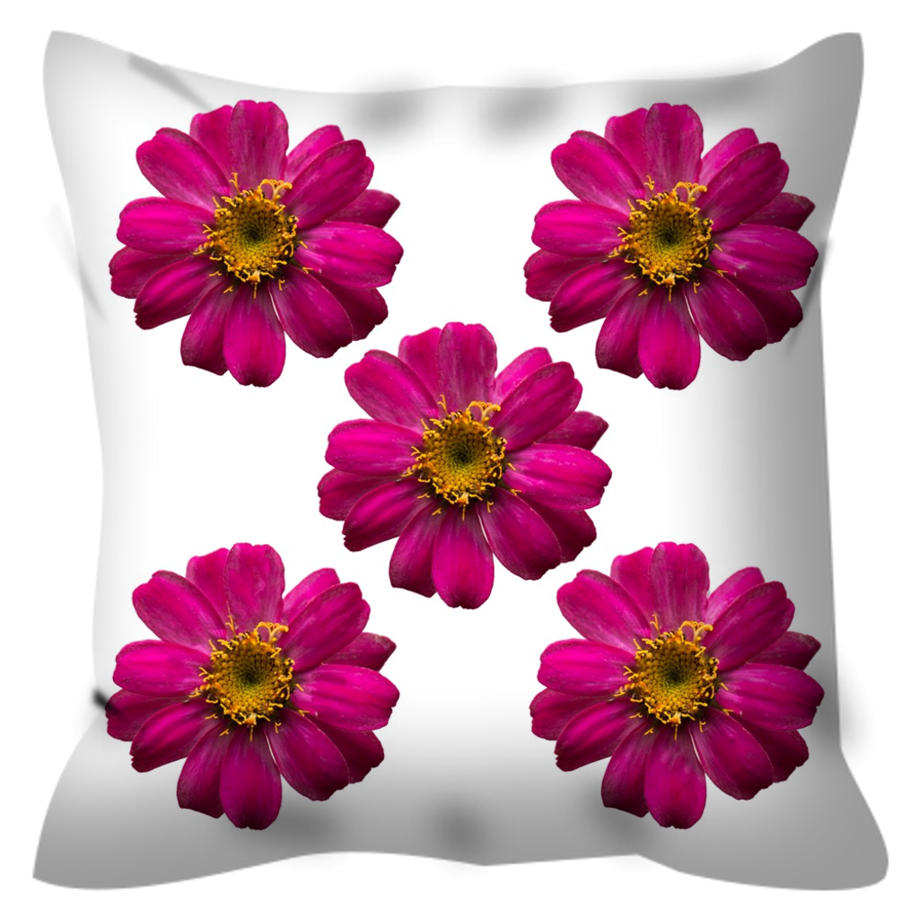 Hot Pink Zinnias | 20x20 Outdoor Pillow