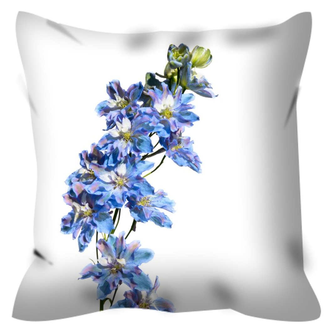 Tie-Dyed Blue Delphinium | 20x20 Outdoor Pillow