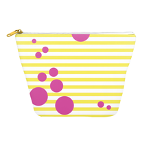 Summer Pop (Lemonade + Pink) Cosmetics Bag