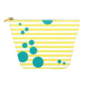 Summer Pop (Lemonade + Turquoise) Cosmetics Bag