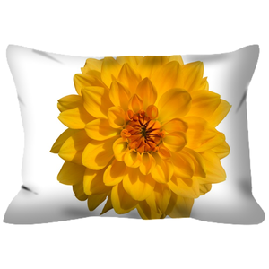 Giant Golden Dahlia | 14x20 | Outdoor Pillow