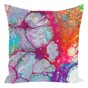Neon Tides | 14x14 Faux-Suede Pillow