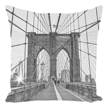 Good Morning, Brooklyn | 14x14 Faux-Suede Pillow