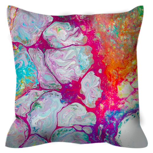Neon Tides | 16x16 Outdoor Pillow