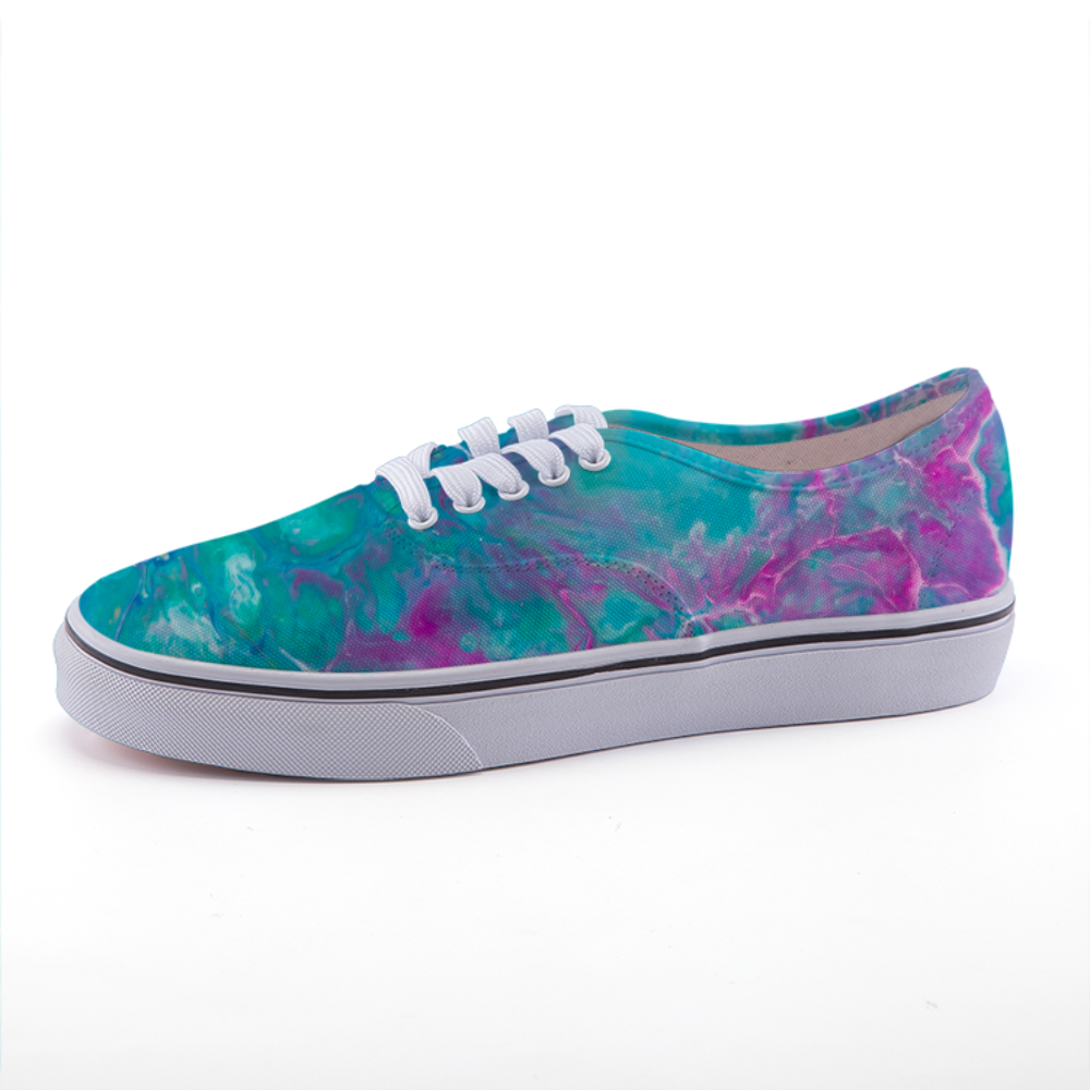Green Days | Art Sneakers | Canvas Low-top