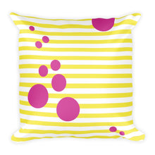 square outdoor cushion pink and yellow