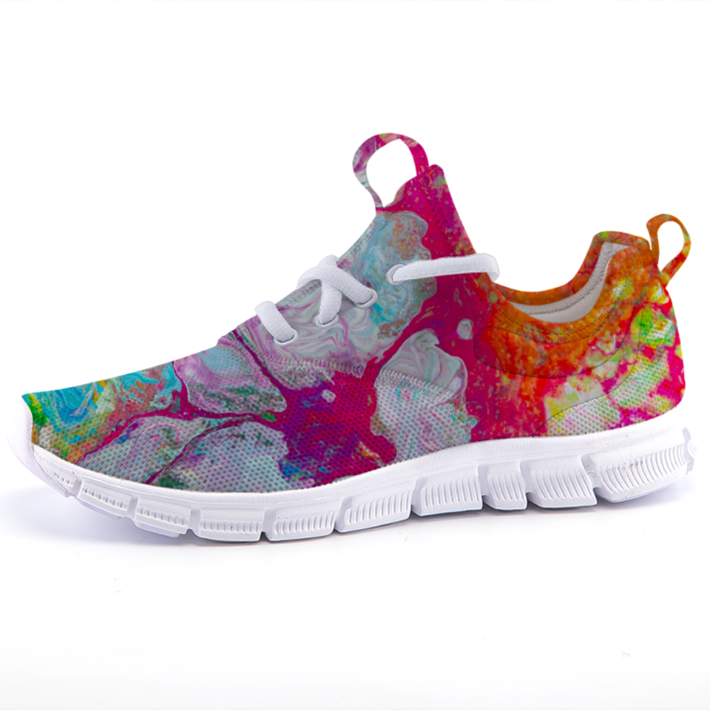 Art Sneakers with Neon Tides Art Sneakers
