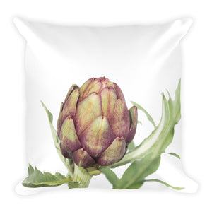 Organic Purple Artichoke | 18x18 Square Decorative Pillow