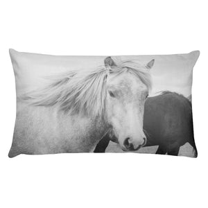 Icelandic Horses No. 2 | 20x12 Rectangular Pillow