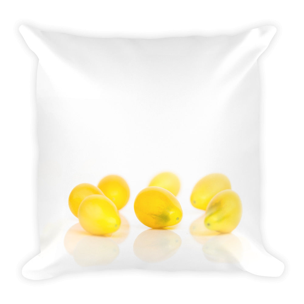 Yellow Plum Tomatoes | 18x18 Square Decorative Pillow