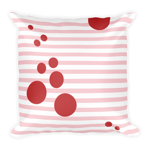 Summer Pop (Blush + Cherry) | Square Pillow