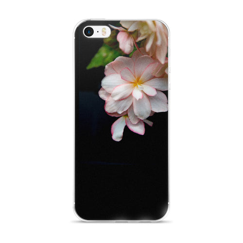 Peach Begonia on Black | iPhone Case (All Sizes)
