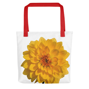 Giant Golden Dahlia | 15x15 Tote Bag