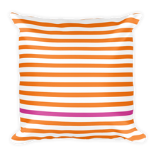 Summer Stripes (Tangerine + Pink) | Square Pillow