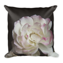 Pink Tipped Rose | 18x18 Square Decorative Pillow