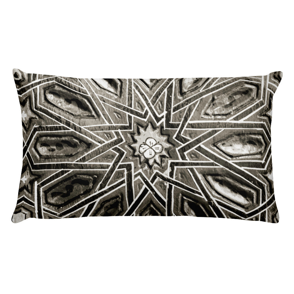 Moroccan Star (Marrakesh, Morocco | 20x12 Rectangular Pillow with Insert