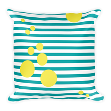 Summer Pop (Turquoise + Lemonade | 18x18 Square Pillow