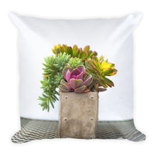 Summer Succulents No. 2 | 18x18 Square Pillow with Insert