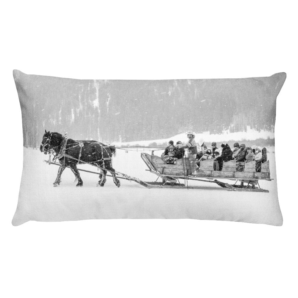 PIne Creek Sleigh Ride (Aspen, Colorado) | 20x12 Rectangular Pillow with Insert