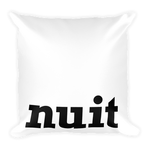 Bon Nuit, Good Night | Big and Bold | Square Pillow