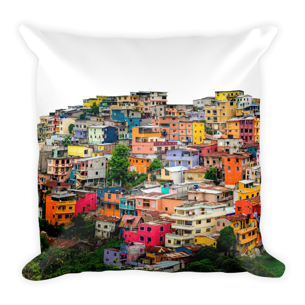 All the Colors in the World (Las Penas, Ecuador) | Square Pillow