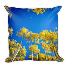Look Up Blue Skies (Aspen, Colorado) | 18x18 Square Pillow with Insert