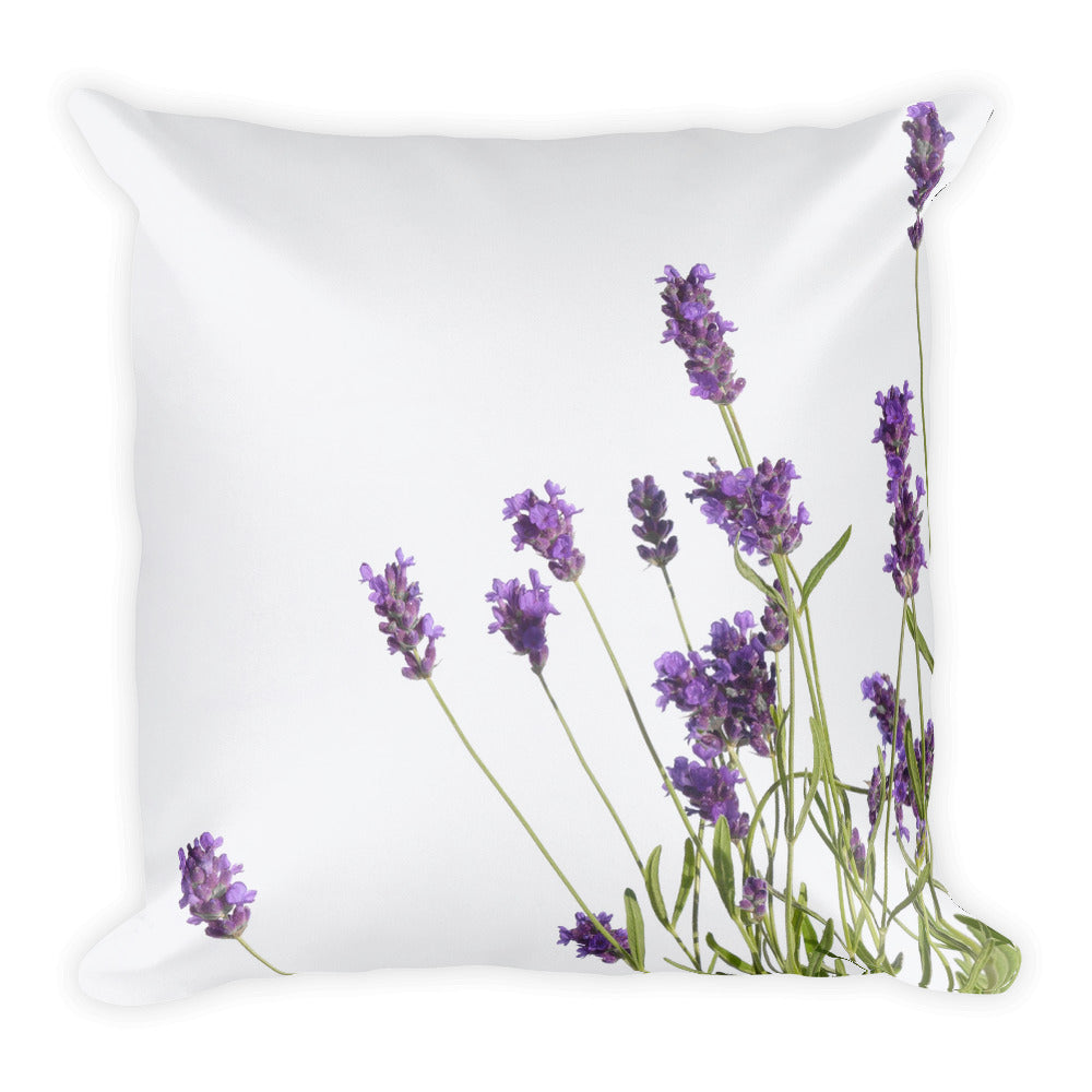 Wild Purple English Lavender | 18x18 Square Decorative Pillow
