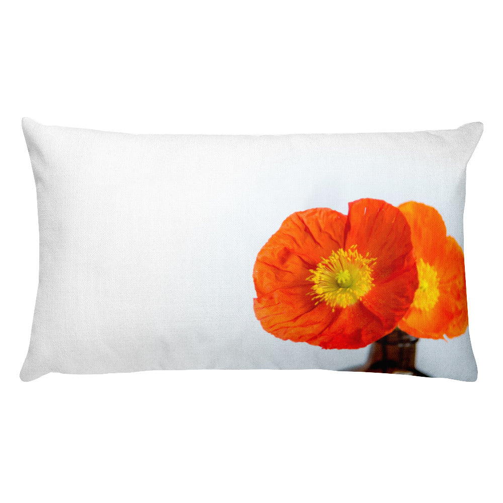 Sunset Poppies | Rectangular 20x12 Decorative Pillow