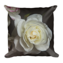 White Rose | 18x18 Square Decorative Pillow