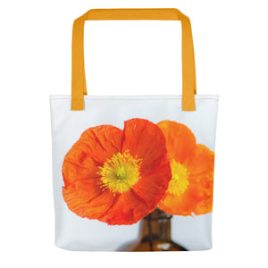 Sunset Poppies | 15x15 Tote Bags