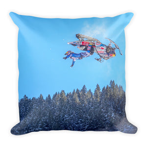 Yikes! Snowmobile | 18x18 Square Pillow with Insert