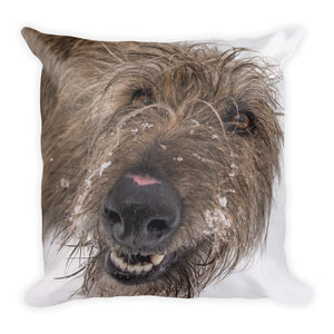 The Lurcher | 18x18 Square Pillow with Insert