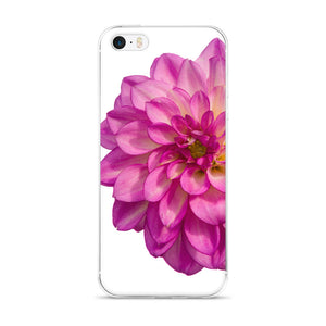 Giant Pink Dahlia | iPhone Case (All Sizes)
