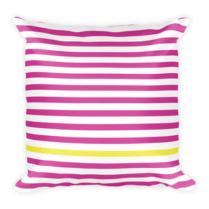 Summer Stripes | 18x18 Square Pillow