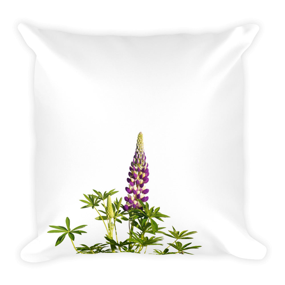 Purple and White Lupine | 18x18 Square Pillow with Insert