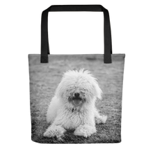 Henry at the Park | Messy White Labradoodle | 15x15 Tote Bags