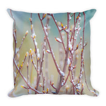 Hunter Creek Spring Snow No. 1 | 18x18 Square Pillow