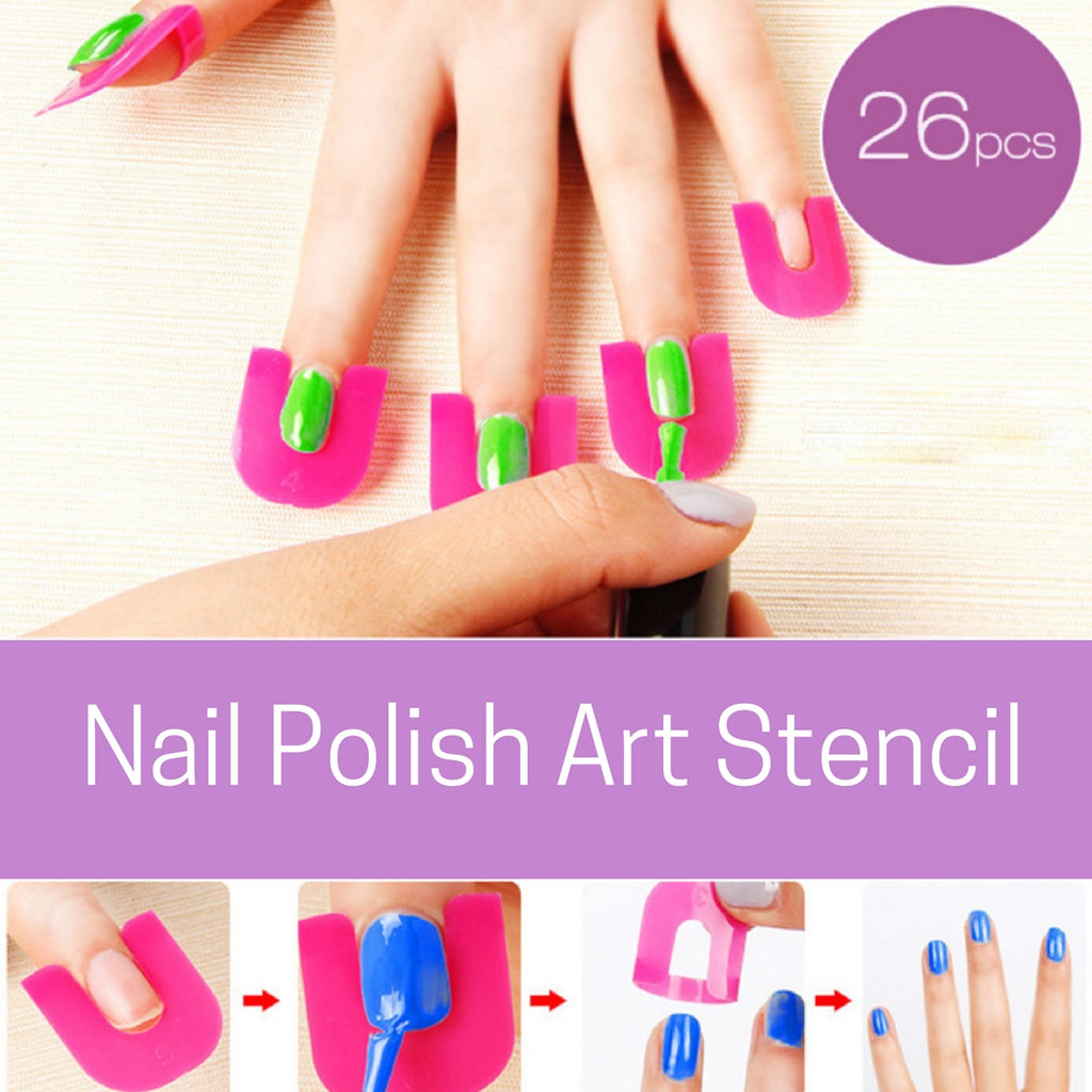 Nail Polish Art Stencil 26PCS Set – OVO SUPPLY