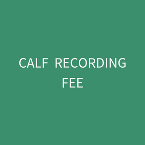 Calf Recording Fee