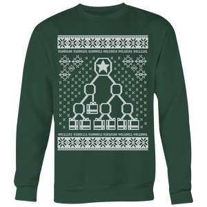Binary Christmas Tree Ugly Sweater