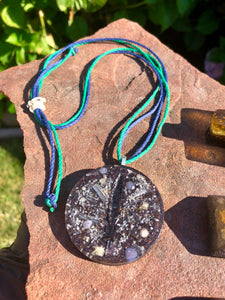 "The ""Cannabis Leaf"" Orgone Amulet - Aura Protection"