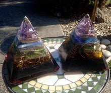 "The ""Nubian Chakra"" 8-sided Orgone Pyramid - (6x6"" base - 7"" height)"
