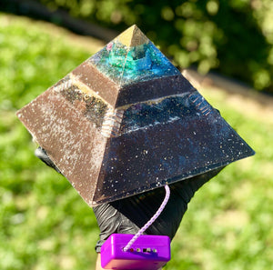 "The ""XL Jumbo Giza Equalizer""- 8x8"" base- Pulsed Radionics Orgone Pyramid"