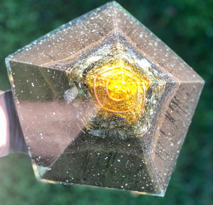 "The ""Pentacle"" Orgone Pyramid- powerful 5-sided home protector"