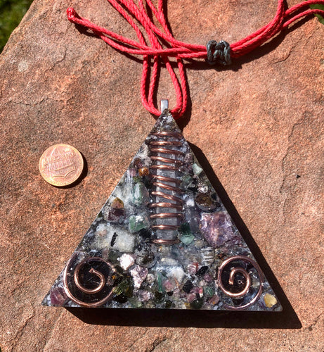 "The ""Large Equilateral"" Orgone Amulet (3.5""x 3.5"", 3.5 oz.)- Max Aura Protection"