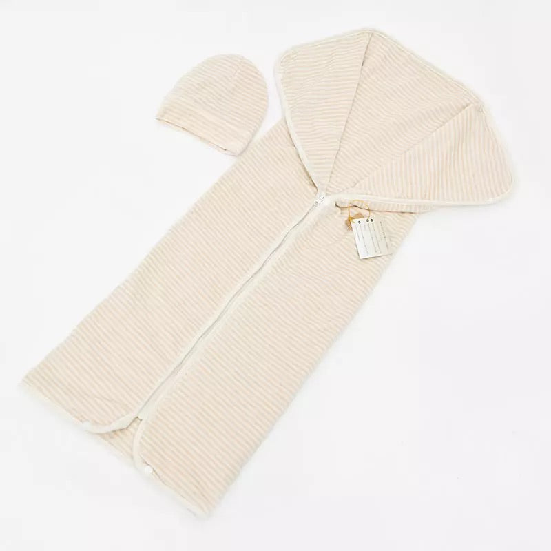 Baby's EMF Shielding Silver Sleeping Bag/Wrap & Beanie- Orgonite™️ included