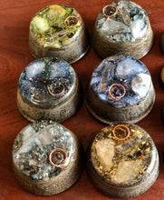 "6-pack of ""Macrocosmic Towerbusters"" - Two Quartz, Garnet, Elite Shungite, Tourmalines, Selenite, Kyanite & Quartz Sand + MMSSO matrix"
