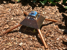 "The ""XL Jumbo Mini-Chembuster"" - 8x8"" base, double coated; copper Earth Pipes for grounding- Sky ionizer"